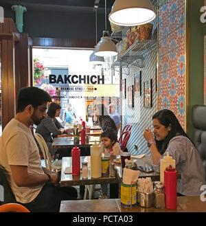 Bakchich Lebanese Restaurant, 54 Bold St, Liverpool, UK,  L1 4ER - Stock Photo