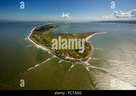 Groynes, Wadden Sea, aerial photo, Wangerooge, North Sea, North Sea island, East Frisian Islands, Lower Saxony, Germany - Stock Photo
