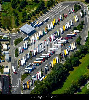 BASF Ludwigshafen, Baden Aniline and Soda Factory Ludwigshafen, Chemical Plant, KTL Kombi-Terminal Ludwigshafen, Container Terminal, Logistics, Container Handling, Containers, Chemical Containers, Ludwigshafen am Rhein, Rhineland-Palatinate, Germany - Stock Photo
