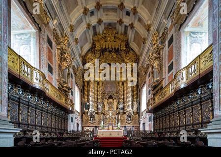Sanctuary, Da Sé Cathedral, Barredo Quarter, UNESCO World Heritage Site, Oporto, Porto District, Portugal, Europe - Stock Photo