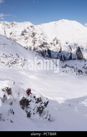 Free skier in the Austrian Alps - Stock Photo