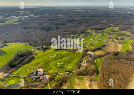 Golf club Mülheim an der Ruhr eV in the south near Selbeck, Mülheim an der Ruhr, Ruhr area, North Rhine-Westphalia, Germany - Stock Photo