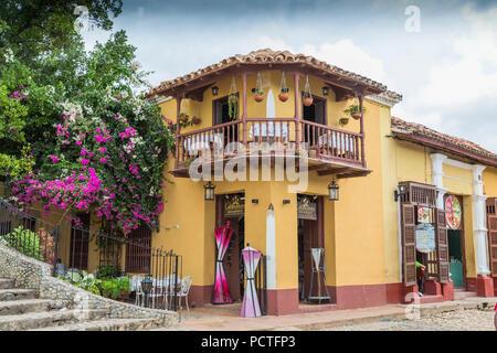 Restaurant Los Conspiradores, Trinidad, Sancti Spiritus Province, Cuba, Republic of Cuba, Greater Antilles, Caribbean - Stock Photo