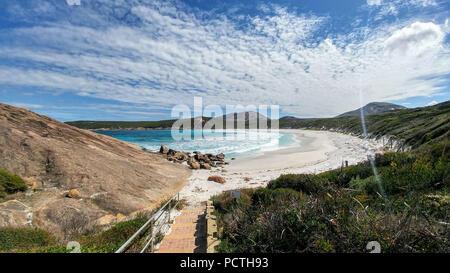 Australia, Esperance, Cape Le Grand National Park, white sand beach, turquoise blue sea - Stock Photo