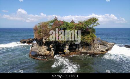 Indonesia, Bali, Pura Tanah Lot, Sea Temple - Stock Photo