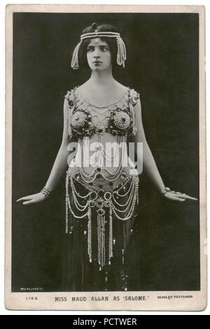 ALLAN, Maud Beagles. 118 B. As Salome. Photo Reutlinger. - Stock Photo
