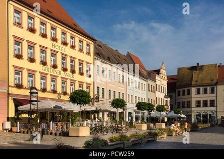 Elbe Cycletour, Saxony, Torgau, market - Stock Photo