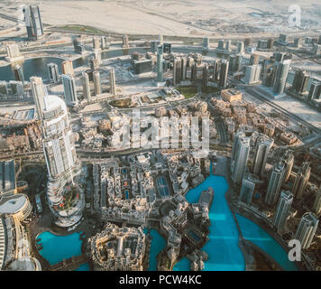 Beautiful view from the top of dubai skyline - united arab emirates - Stock Photo