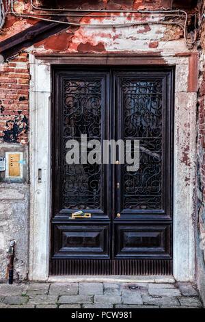Doorway in Venice, Italy - Stock Photo