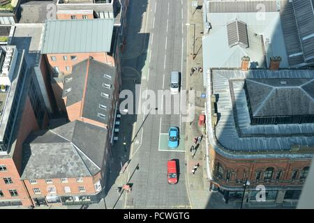 High level view of Manchester street, May 2018 - Stock Photo