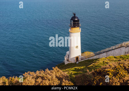Maughold Head Lighthouse on the Isle of Man - Stock Photo