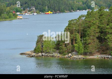 Stockholm archipelago, largest archipelago in Sweden, and second-largest archipelago in Baltic Sea. Summer Landscape - Stock Photo