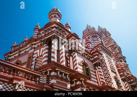Jami-Ul-Alfar Mosque or Red Masjid Mosque is a historic mosque in Colombo capital of Sri Lanka - Stock Photo