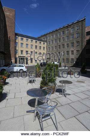 Courtyard at Hotel Indigo Dundee Scotland  July 2018 - Stock Photo