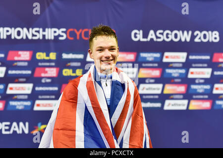 Glasgow, UK. 04th Aug, 2018. during the European Championships Glasgow 2018 at Sir Chris Hoy Velodrome on Saturday, 04 August 2018. GLASGOW SCOTLAND . Credit: Taka G Wu Credit: Taka Wu/Alamy Live News - Stock Photo