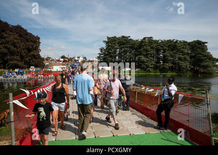 Woodstock, UK, 4th August 2018. Visitors flocked to BBC Countryfile Live, held within the grounds of Blenheim Palace. Animals, wildlife, food, outdoor sports, conservation, farming, rural affairs, entertainment, all were represented. Credit: Stephen Bell/Alamy Live News. - Stock Photo