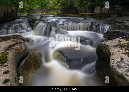 River Eden; Near Kirkby Stephen; Cumbria; UK - Stock Photo