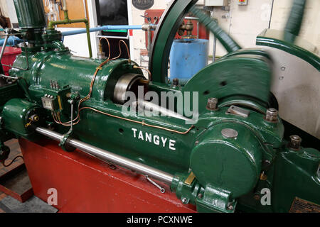 National Waterways Museum, Ellesmere Port, Cheshire, UK. Aug- 02 2018 - This Tangye Engine Once Drove a Large Centrifugal Water Pump, its dated as 194 - Stock Photo