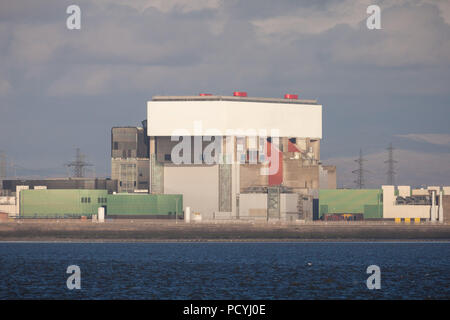 Heysham Two (2) Nuclear Power Station in Lancashire - Stock Photo