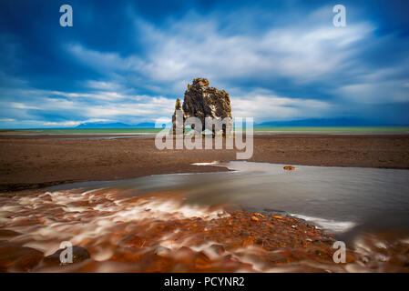 Hvitserkur rock in Iceland - Stock Photo