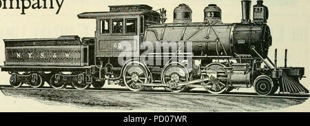 'Locomotive engineering : a practical journal of railway motive power and rolling stock' (1892) - Stock Photo