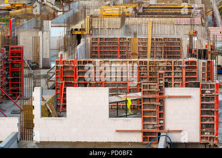 Buildings under construction of the new residential apartments. - Stock Photo