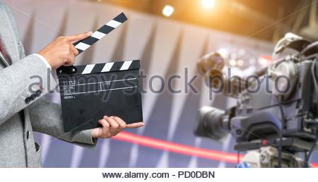 movie clapper , cinema concept - Stock Photo