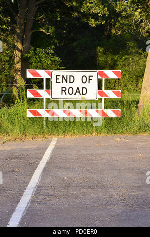 End of the Road Sign. - Stock Photo