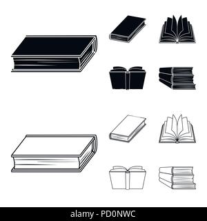 Various kinds of books. Books set collection icons in black,outline style vector symbol stock illustration . - Stock Photo