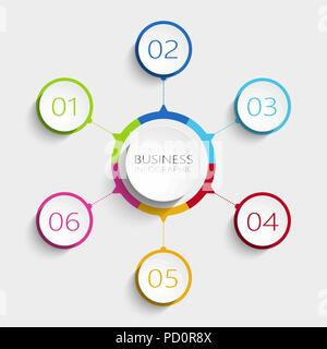 modern abstract 3d infographic template with five steps for success