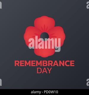 Remembrance Day logo icon design, vector illustration - Stock Photo