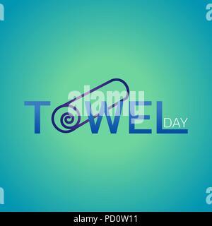Towel Day icon design, vector illustration - Stock Photo