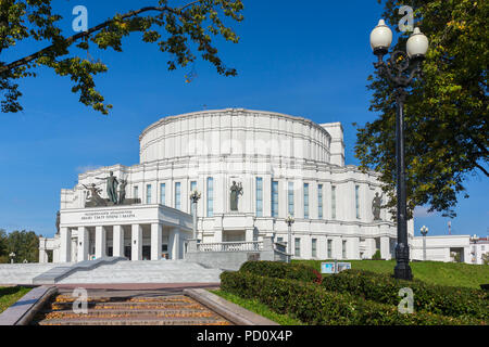 The National Opera and Ballet Theatre of Belarus in Minsk. - Stock Photo
