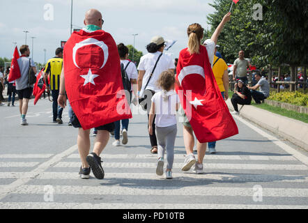 Muharrem ince election rally, maltepe park rally area, Istanbul, Turkey - 21 June 2018 - Stock Photo