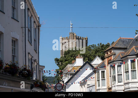 St Giles and St Nicholas Parish Church, Sidmouth, on Church Street in the town centre - Stock Photo