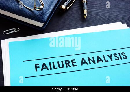 Failure analysis concept. RCA - Root Cause Analysis. - Stock Photo