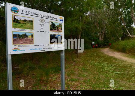 Booroona walking trail on the Ross River, Rasmussen QLD 4815, Australia - Stock Photo