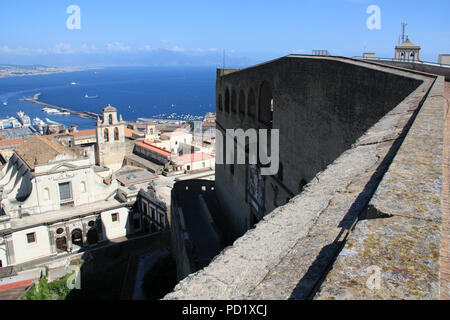 Stunning view of the Certosa di San Martino monastery complex from the Castel Sant'Elmo in Napoli, Italy - Stock Photo