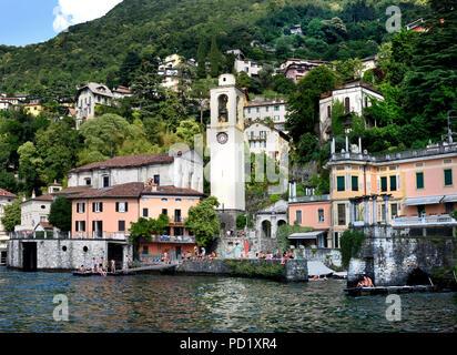 Cernobbio - Lago di Como (Lake Como) is a lake of glacial origin in Lombardy Italy Italian. - Stock Photo