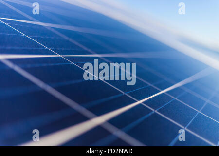 Solar Energy, a clean technology to reduce CO2 emissions, the best place for Solar Energy is Atacama Desert at Chile. Solar modules and cells. - Stock Photo