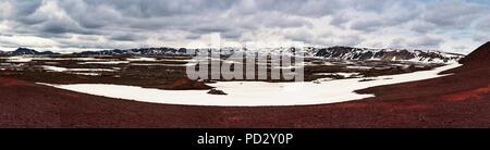Panoramic view of caldera field - Stock Photo