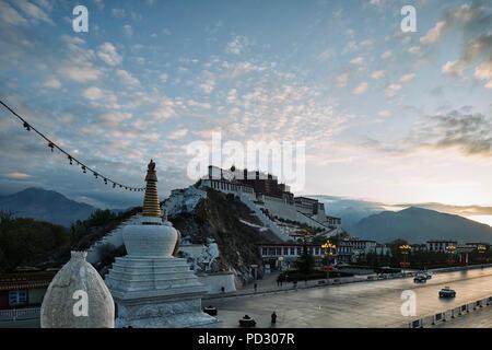 Potala Palace, Lhasa, Xizang, China - Stock Photo