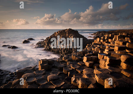Giant's Causeway, County Antrim, Northern Ireland, UK - Stock Photo