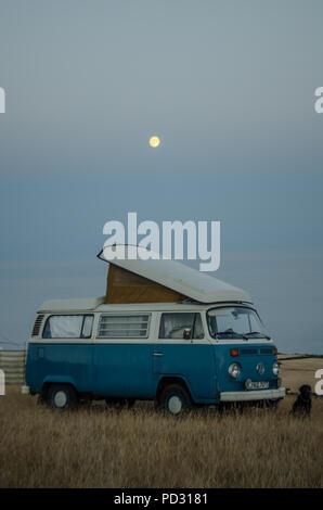 Bay window VW campervan - Stock Photo