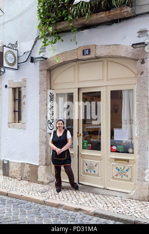 Ze Varunca restaurant, Lisbon, Portugal - Stock Photo