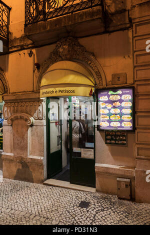 Bifana, Lisbon, Portugal - restaurant Beira Gare - Stock Photo