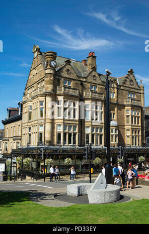 Bettys Tea Rooms on a sunny summer day in Harrogate,North Yorkshire,England. - Stock Photo