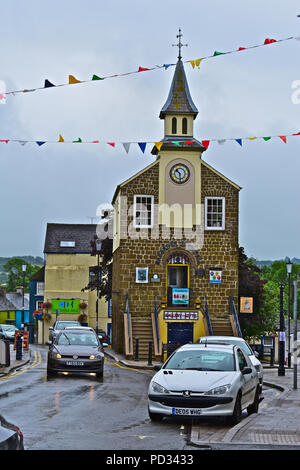 Narberth Old Town Hall ,is now a thriving arts & crafts centre in the middle of this well-to-do country town in Pembrokeshire.Wales - Stock Photo
