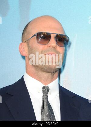 Los Angeles, CA, USA. 6th Aug, 2018. Jason Statham at arrivals for THE MEG Premiere, TCL Chinese Theatre (formerly Grauman's), Los Angeles, CA August 6, 2018. Credit: Elizabeth Goodenough/Everett Collection/Alamy Live News - Stock Photo