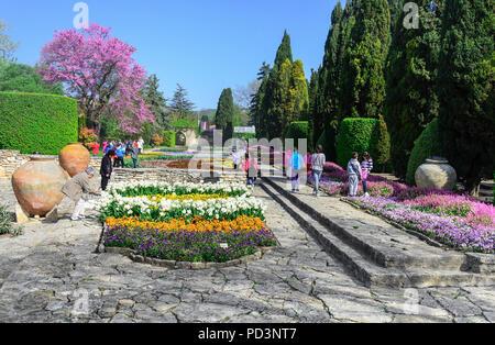 Botanical garden of the Romanian queen, Balchik, Bulgaria. - Stock Photo
